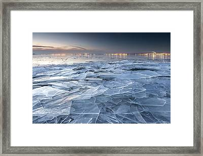 Frozen Town Framed Print by Evgeni Dinev