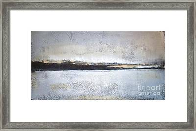 Frozen Winter Lake Framed Print by Vesna Antic