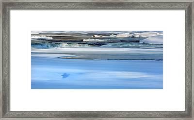 Frozen Winter River Framed Print by Bill Wakeley