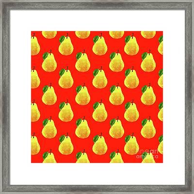 Fruit 03_pear_pattern Framed Print by Bobbi Freelance