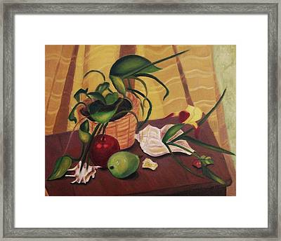 Fruit And Plant Framed Print by Suzanne  Marie Leclair