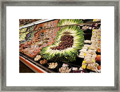 Fruit And Vegetable Section Framed Print by Panoramic Images