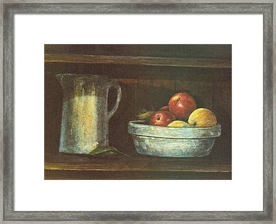Fruit Bowl Framed Print by Charles Roy Smith