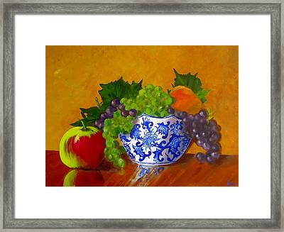 Fruit Bowl II Framed Print by Pete Maier