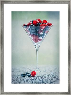 Fruit Cocktail Framed Print by Maggie Terlecki