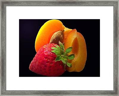 Fruit Display Framed Print by Amanda Vouglas
