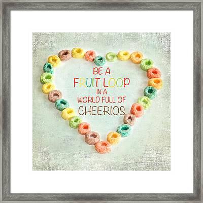 Fruit Loop Framed Print by Kim Fearheiley