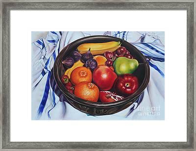 Fruit Of The Spirit Framed Print by Ilse Kleyn