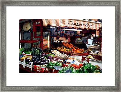 Fruit Stand Framed Print by Warren Home Decor