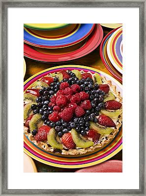 Fruit Tart Pie Framed Print by Garry Gay