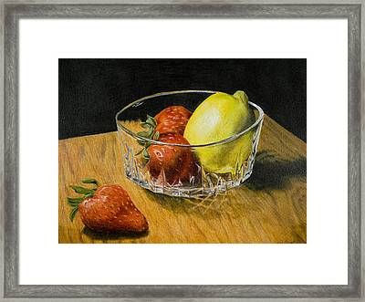 Fruitful Framed Print by Bryan Calcagno