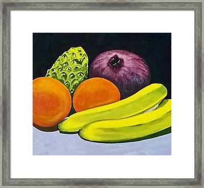 Fruitful Framed Print by Neelee Art by Farah