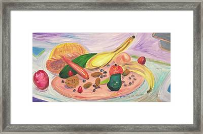 Fruits And Vegitables  Framed Print by Suzanne  Marie Leclair