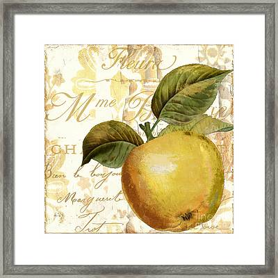 Fruits D'or Golden Apple Framed Print by Mindy Sommers