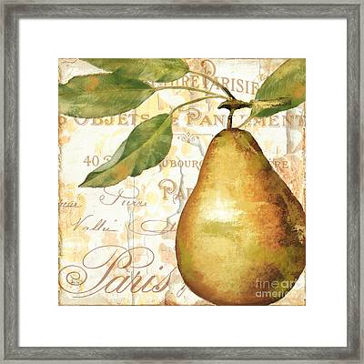 Fruits D'or Golden Pear Framed Print by Mindy Sommers