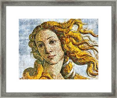 Fruity Venus I Am So Sorry Mr Boticelli Framed Print by Georgiana Romanovna