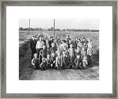 Fsa Cooperative Farm Framed Print by Dorothea Lange