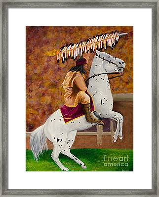 Fsu Chief Osceola And Renegade Framed Print by Deb Breton