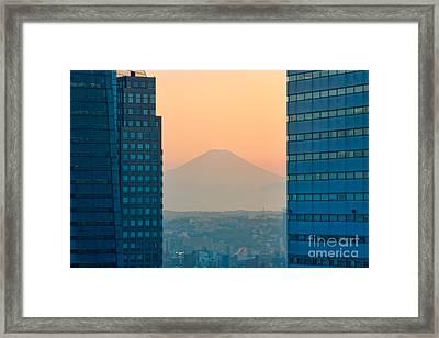 Fuji San Framed Print by Joerg Lingnau
