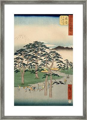 Fujisawa From The Series Fifty Three Stations Of The Tokaido Framed Print by Hiroshige
