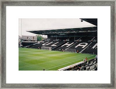 Fulham - Craven Cottage - South Stand 2 - July 2004 Framed Print by Legendary Football Grounds