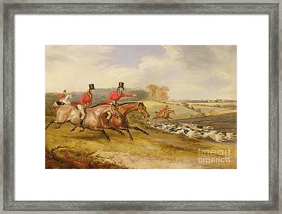 Full Cry, Bachelor's Hall Framed Print by Francis Calcraft Turner