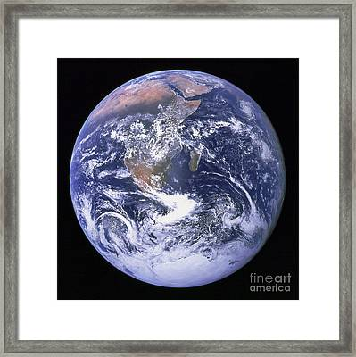 Full Earth Framed Print by Stocktrek Images