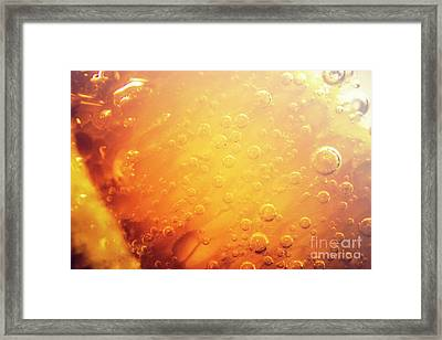 Full Frame Close Up Of Orange Soda Water Framed Print by Jorgo Photography - Wall Art Gallery