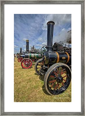 Full Head Of Steam Framed Print by Stephen Smith