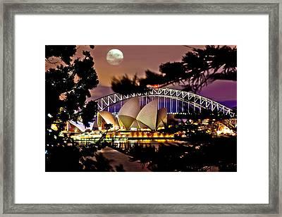 Full Moon Above Framed Print by Az Jackson