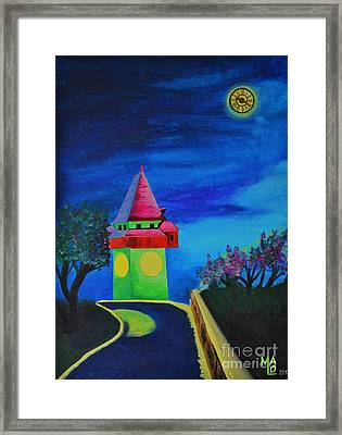 Full Moon Above Graz Framed Print by Mario Lorenz