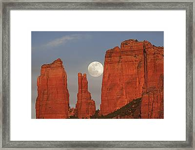 Full Moon In The Cathedral Framed Print by Loree Johnson