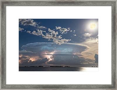 Full Moon Lake Storm Framed Print by James BO  Insogna