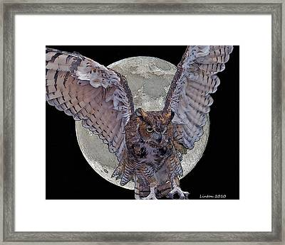 Full Moon Framed Print by Larry Linton