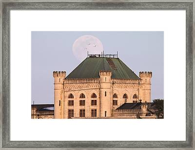 Full Moon Over Portsmouth Naval Prison Framed Print by Eric Gendron