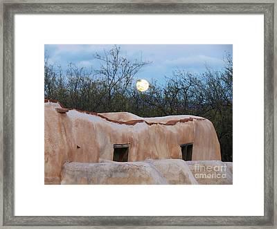Full Moon Over Tumacacori Framed Print by Feva Fotos