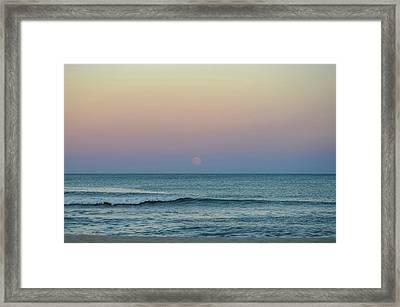 Full Moon Rise Seaside Nj October 2013 Framed Print by Terry DeLuco