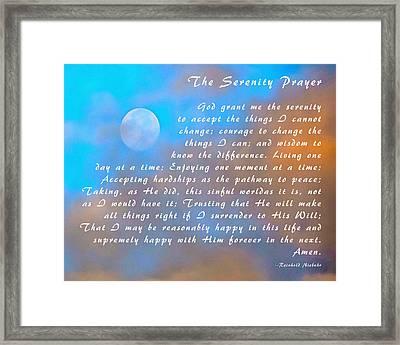 Full Moon Serenity Prayer Digital Framed Print by Floyd Snyder
