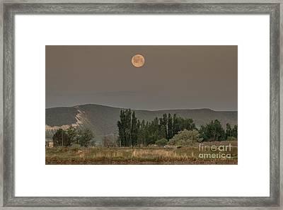 Full Moon Setting Framed Print by Robert Bales