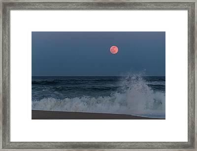 Full Moon Splash Seaside Nj Framed Print by Terry DeLuco