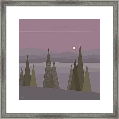 Full Moon  Framed Print by Val Arie
