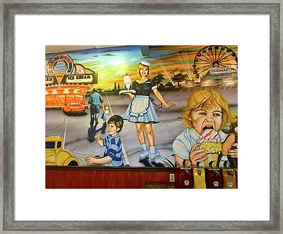 Fun And Food Framed Print by Denise Mazzocco