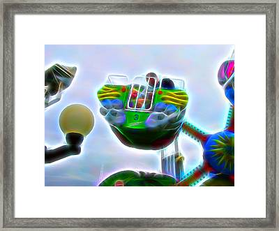 Fun At The Ocean Framed Print by Tim Coleman