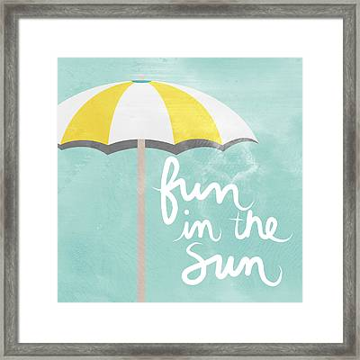 Fun In The Sun Framed Print by Linda Woods