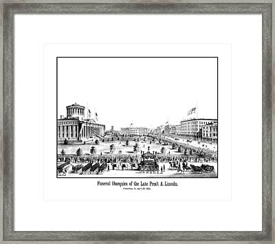 Funeral Obsequies Of President Lincoln Framed Print by War Is Hell Store