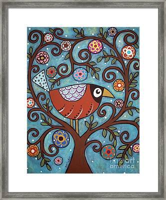 Funky Bird Framed Print by Karla Gerard