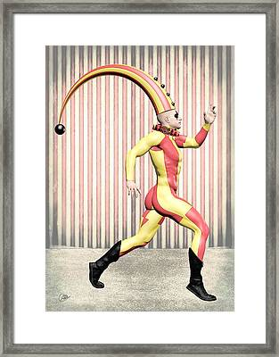 Cirque Costume Framed Print by Quim Abella