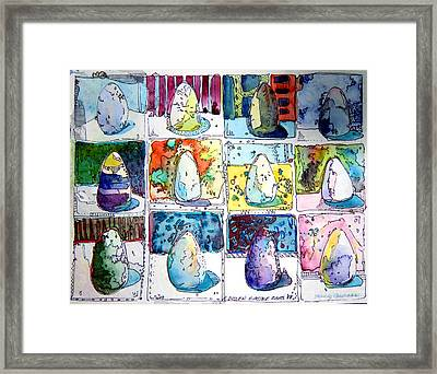 Funny Eggs Framed Print by Mindy Newman