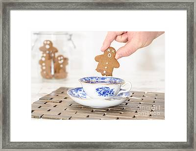 Funny Gingerbread Framed Print by Amanda Elwell