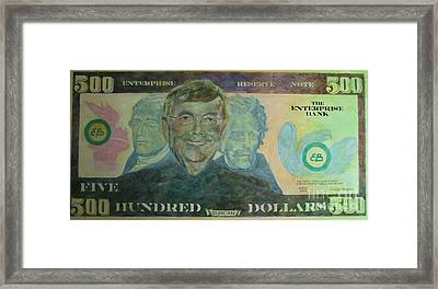 Funny Money Framed Print by Claire Gagnon